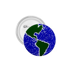 Globe Drawing Earth Ocean 1 75  Buttons by HermanTelo
