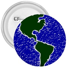 Globe Drawing Earth Ocean 3  Buttons by HermanTelo