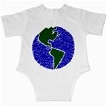 Globe Drawing Earth Ocean Infant Creepers Back