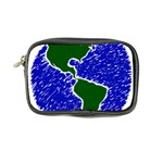 Globe Drawing Earth Ocean Coin Purse Front