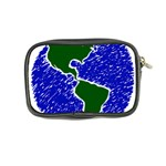 Globe Drawing Earth Ocean Coin Purse Back