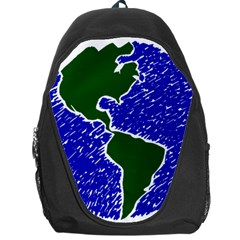 Globe Drawing Earth Ocean Backpack Bag