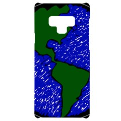 Globe Drawing Earth Ocean Samsung Note 9 Black Uv Print Case  by HermanTelo