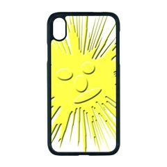 Smilie Sun Emoticon Yellow Cheeky Iphone Xr Seamless Case (black)