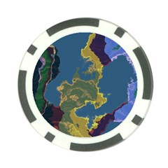 Map Geography World Poker Chip Card Guard (10 Pack)