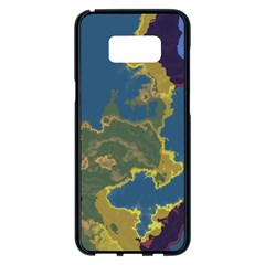 Map Geography World Samsung Galaxy S8 Plus Black Seamless Case