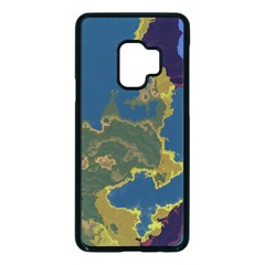 Map Geography World Samsung Galaxy S9 Seamless Case(black)