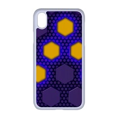 Communication Network Digital Iphone Xr Seamless Case (white)