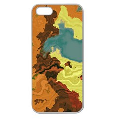 Map Geography World Yellow Apple Seamless Iphone 5 Case (clear) by HermanTelo