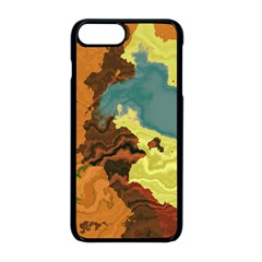 Map Geography World Yellow Iphone 8 Plus Seamless Case (black)