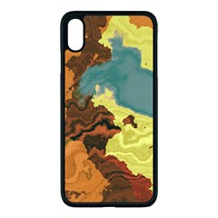 Map Geography World Yellow Iphone Xs Max Seamless Case (black)