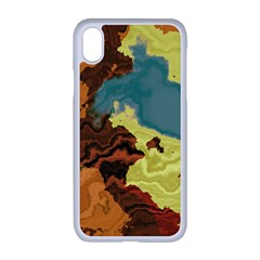 Map Geography World Yellow Iphone Xr Seamless Case (white)