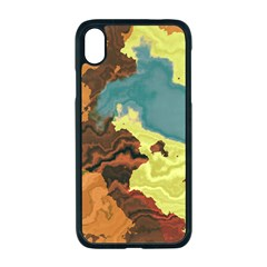 Map Geography World Yellow Iphone Xr Seamless Case (black)