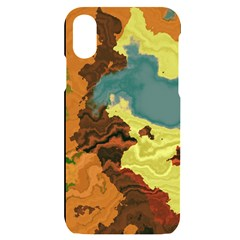 Map Geography World Yellow Iphone X/xs Black Uv Print Case