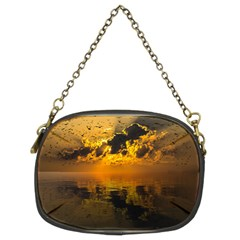 Sunset Reflection Birds Clouds Sky Chain Purse (two Sides) by HermanTelo