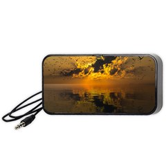 Sunset Reflection Birds Clouds Sky Portable Speaker