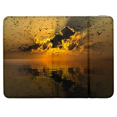 Sunset Reflection Birds Clouds Sky Samsung Galaxy Tab 7  P1000 Flip Case