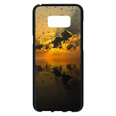 Sunset Reflection Birds Clouds Sky Samsung Galaxy S8 Plus Black Seamless Case