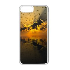 Sunset Reflection Birds Clouds Sky Iphone 8 Plus Seamless Case (white)