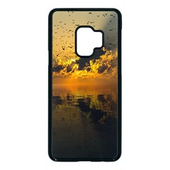 Sunset Reflection Birds Clouds Sky Samsung Galaxy S9 Seamless Case(black)