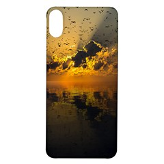 Sunset Reflection Birds Clouds Sky Iphone X/xs Soft Bumper Uv Case