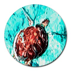 Tortoise Marine Animal Shell Sea Round Mousepads