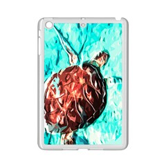 Tortoise Marine Animal Shell Sea Ipad Mini 2 Enamel Coated Cases by HermanTelo