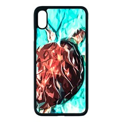 Tortoise Marine Animal Shell Sea Iphone Xs Max Seamless Case (black)
