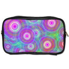 Circle Colorful Pattern Background Toiletries Bag (one Side) by HermanTelo