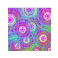 Circle Colorful Pattern Background Small Satin Scarf (square)
