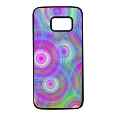 Circle Colorful Pattern Background Samsung Galaxy S7 Black Seamless Case by HermanTelo