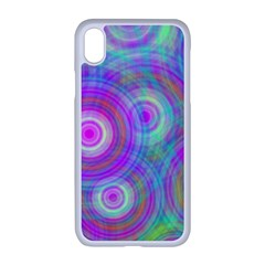 Circle Colorful Pattern Background Iphone Xr Seamless Case (white)