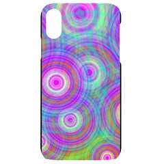 Circle Colorful Pattern Background Iphone Xr Black Uv Print Case
