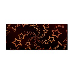 Gold Stars Spiral Chic Hand Towel