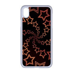 Gold Stars Spiral Chic Iphone Xr Seamless Case (white)