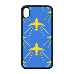 Aircraft Texture Blue Yellow Iphone Xr Seamless Case (black)
