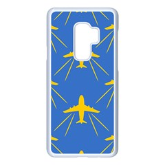 Aircraft Texture Blue Yellow Samsung Galaxy S9 Plus Seamless Case(white) by HermanTelo