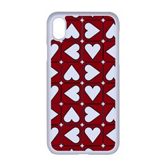 Graphic Heart Pattern Red White Iphone Xr Seamless Case (white)