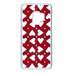 Graphic Heart Pattern Red White Samsung Galaxy S9 Seamless Case(white)