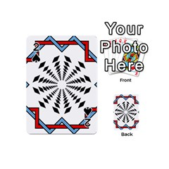 Star Illusion Mandala Playing Cards Double Sided (mini) by HermanTelo