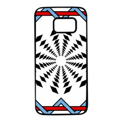 Star Illusion Mandala Samsung Galaxy S7 Black Seamless Case