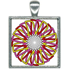 Sun Abstract Mandala Square Necklace by HermanTelo