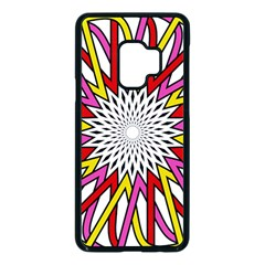 Sun Abstract Mandala Samsung Galaxy S9 Seamless Case(black)