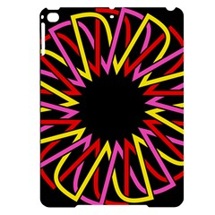 Sun Abstract Mandala Apple Ipad Pro 9 7   Black Uv Print Case