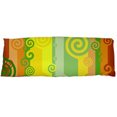 Ring Kringel Background Abstract Yellow Body Pillow Case Dakimakura (two Sides) by HermanTelo