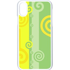 Ring Kringel Background Abstract Yellow Iphone X Seamless Case (white)