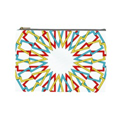 Wheel Complex Symbol Mandala Cosmetic Bag (large) by HermanTelo