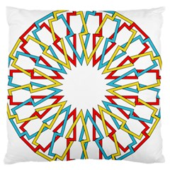 Wheel Complex Symbol Mandala Standard Flano Cushion Case (one Side) by HermanTelo