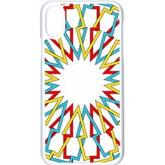 Wheel Complex Symbol Mandala Iphone X Seamless Case (white)