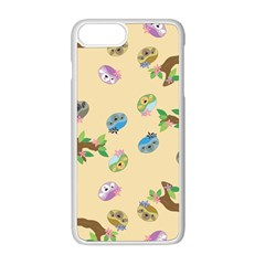 Sloth Neutral Color Cute Cartoon Iphone 8 Plus Seamless Case (white)